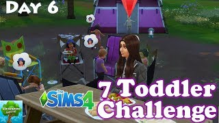 The Worst Camping Trip Ever! Sims 4 Seven Toddler Challenge Day 6 / The Adventurers Gaming