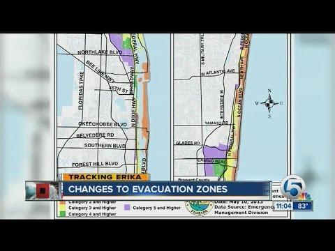 Changes to evacuation zones