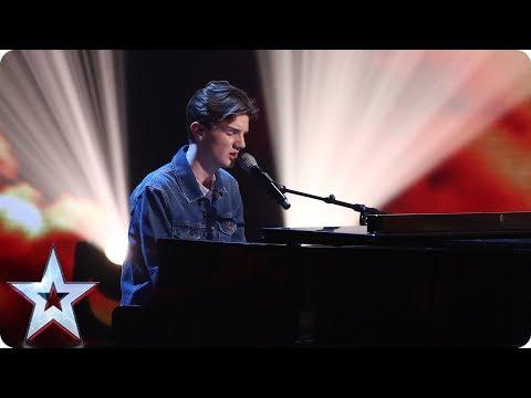 Harry Gardner covers Ed Sheeran's Supermarket Flowers   Semi - Final 2   Britain's Got Talent 2017