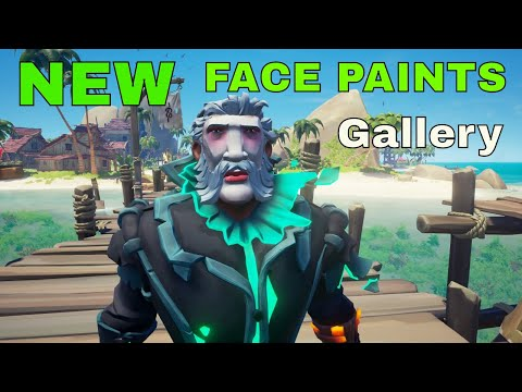 Sea of Thieves: ALL NEW face paints (Gallery)  and where to find them!!