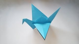 How To Make an Origami Flapping Bird - Easy Origami Intructions