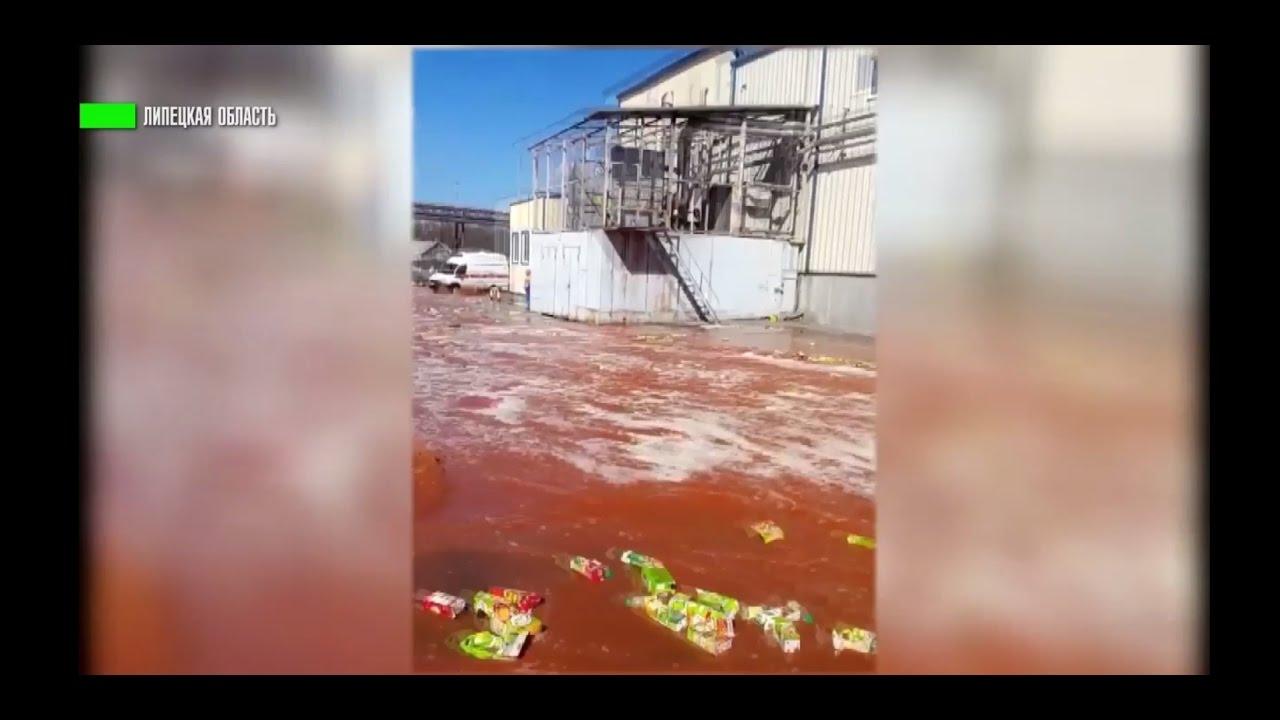 Сладкий потоп: в Липецкой области улицы залило соком
