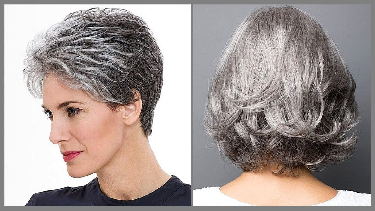 Secrets of Going Gray 😎 Fancy Long Gray Hairstyle For Over 50   Haircut Trending 2020