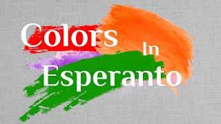 colors on Esperanto#esperanto