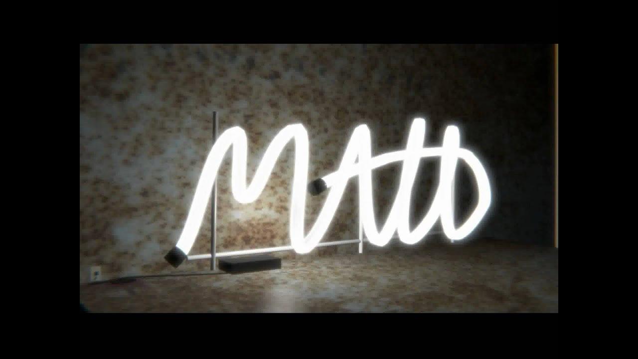 matt neon sign made with blender youtube. Black Bedroom Furniture Sets. Home Design Ideas