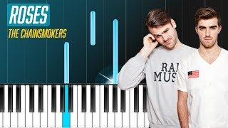 The Chainsmokers - Roses Ft Rozes Piano Tutorial - Chords - How To Play - Cover
