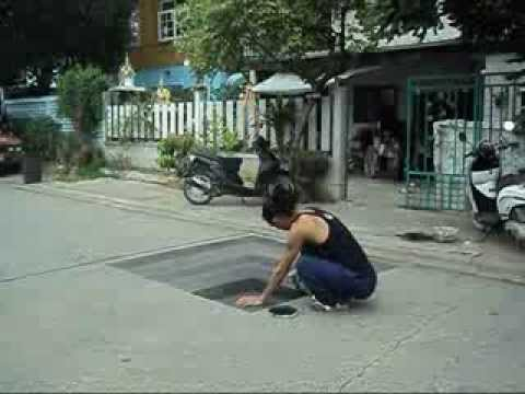 How to 3d drawing on paper and street (การวาดภาพ 3D)