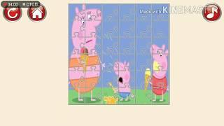 1) СВИНКА собираем Пазлы для детей Peppa Pig Puzzles For Kids