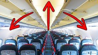 Por qué los aviones se ven tan espaciosos pero no lo son