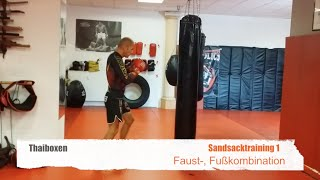 Thaiboxen-  Sandsack- Training 1
