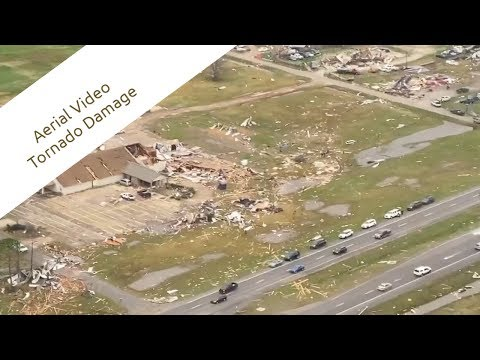 Aerial Video Of Extensive Tornado Damage - Alexandria, Louisiana