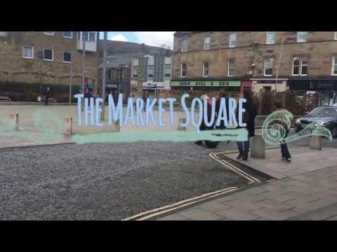 The Market Square in Galashiels, Scottish Borders