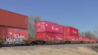 UP intermodal stack train on the UP Golden State Route  01/01/2017  # 3