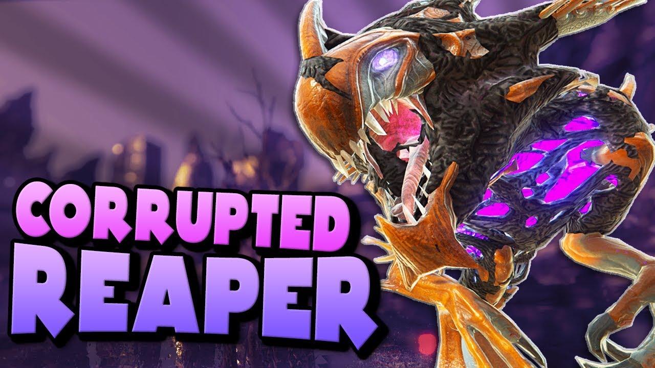 Download CORRUPTED REAPER KING ENCOUNTER + LVL 100 T-REX! | ARK Extinction DLC Ep 11