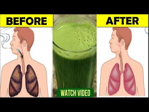If You Smoke, This Easy To Make Recipe Will Clear Your Lungs|| Clean Your Lungs.