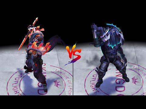 PsyOps Pyke vs PROJECT Pyke Skins Comparison (League of Legends)