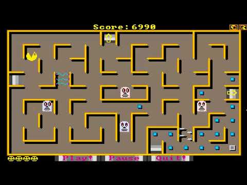 AMIGA PACMAN 87 Steve Jacobs Jim Boyd OCS Amiga Library Disk 192 Fred Fish PD WB 1989
