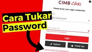 Cara Tukar Password Cimb Click 2019 Youtube