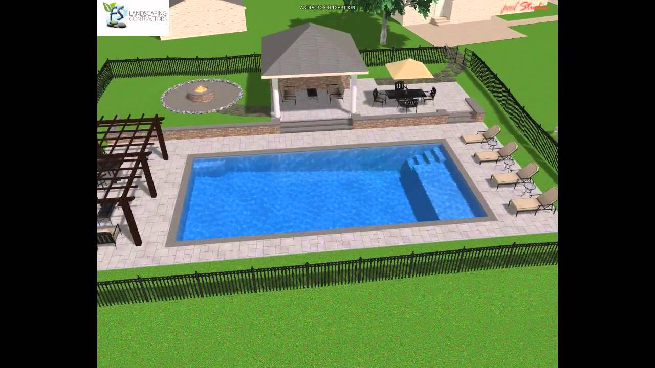 Rectangle Pool Design Youtube