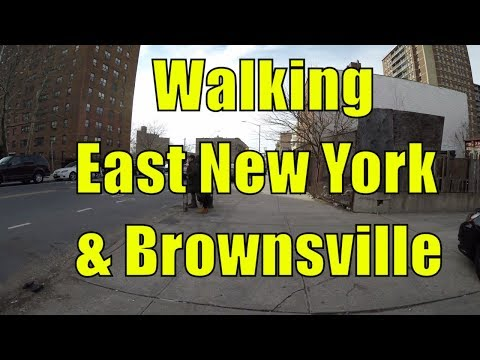 ⁴ᴷ Walking Tour of East New York & Brownsville, Brooklyn, NYC - Pitkin Avenue