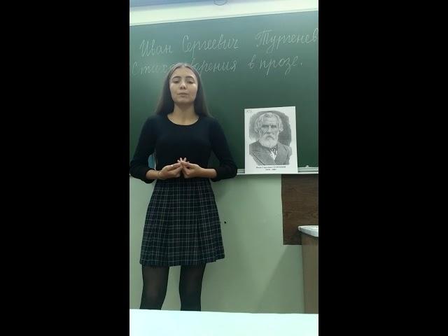 Изображение предпросмотра прочтения – ДианаГиззатуллина читает произведение «Стихотворение в прозе Воробей» И.С.Тургенева
