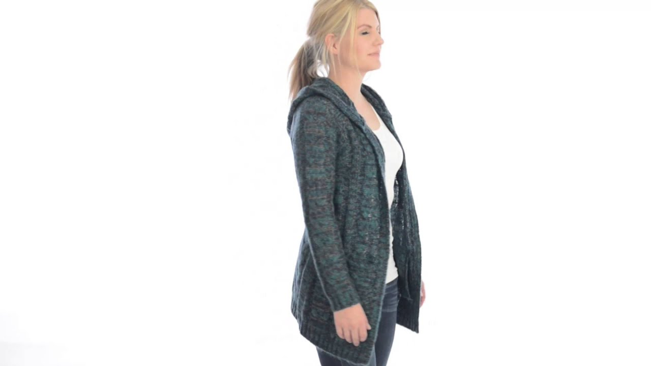 Ethyl Cable-Knit Cardigan Sweater - Hooded (For Women) - YouTube