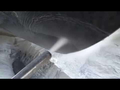 Geo-Blaster® Wet Abrasive Blasting of steel boat in Norway