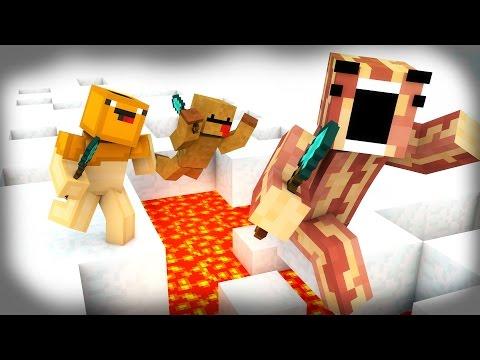 ULTIMATE STRATZ!   Minecraft Breakfast Brigade   SPLEEF MINI-GAME!
