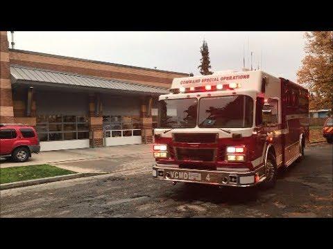 **RARE** Vancouver Fire E18 CMD 4 & Haz Tender 18 Responding