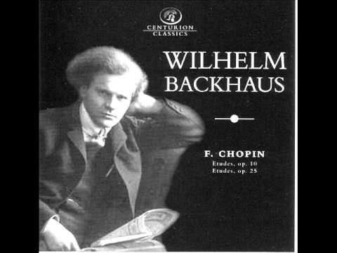 Wilhelm Backhaus plays Chopin Etudes Op.10