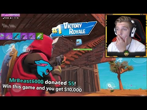 I was promised $10,000 for winning a game of Fortnite Mobile from MrBeast?!