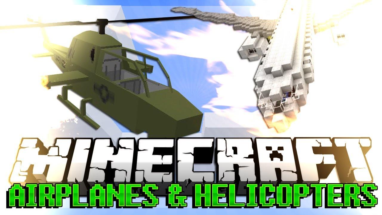 Скачать мод на майнкрафт 1.7.10 на самолёты и вертолёты