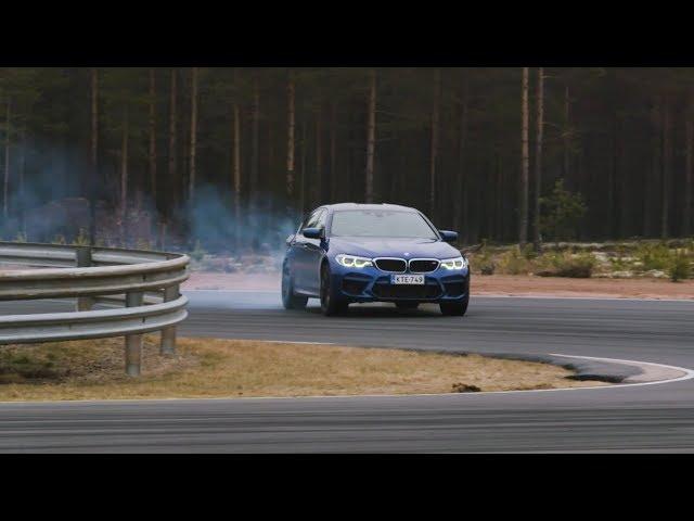 Uusi BMW M5 Markku Alénin ratakäsittelyssä  (Teknavi 2018)