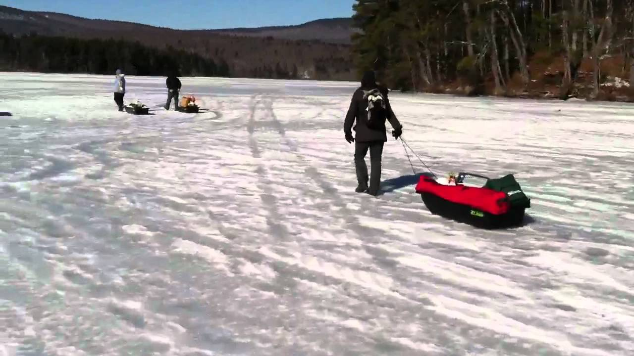 Kezar lake maine pulling jet sleds going ice fishing for Maine out of state fishing license