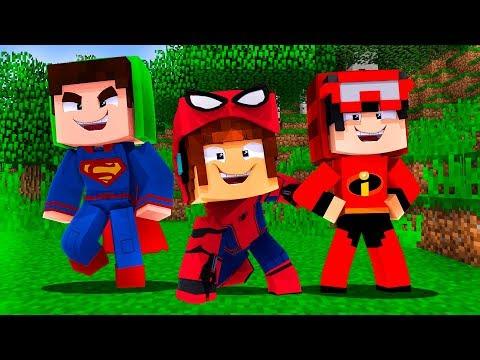 FESTA A FANTASIA DE SUPER-HERÓIS NA CASA DOS YOUTUBERS !! - Minecraft