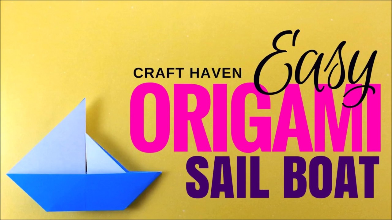 Easy origami sail boat simple origami paper boat origami easy origami sail boat simple origami paper boat origami instructions for beginners diy boat jeuxipadfo Gallery