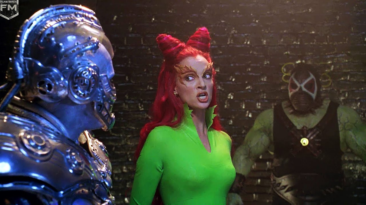 Poison Ivy, Mr Freeze and Bane in a still from the movie