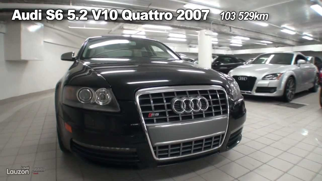 audi s6 5 2 v10 quattro 2007 youtube. Black Bedroom Furniture Sets. Home Design Ideas