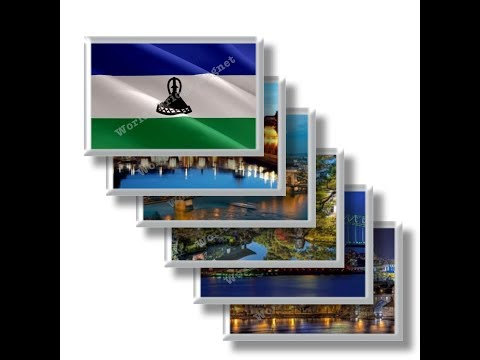 LS - Travels in LESOTHO - rectangular magnets and souvenirs
