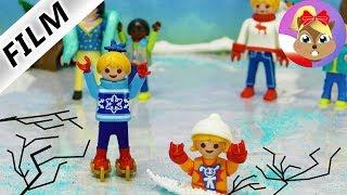 Playmobil Film polski - jazda na ŁYŻWACH | Pia - wypadek na lodzie | Serial - Wróblewscy
