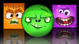 Spooky Monsters for Kids | Learn Colors with MONSTER MASKS | Educational Cartoons by Annie & Ben