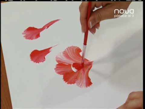 Nuria s nchez nos ense a a pintar con la t cnica - Pintar con acrilicos paso a paso ...
