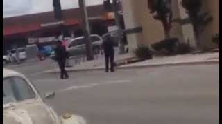Man in Salinas California shot down by Police