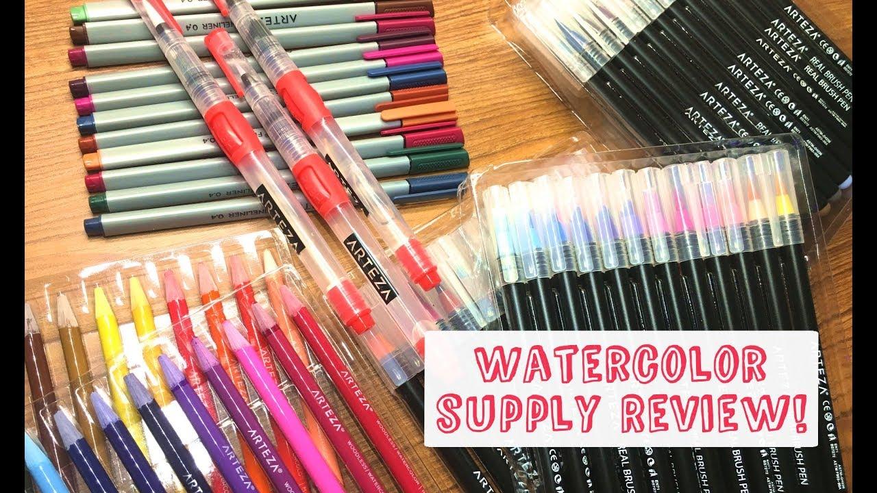 Arteza Watercolor Supplies Review! - YouTube