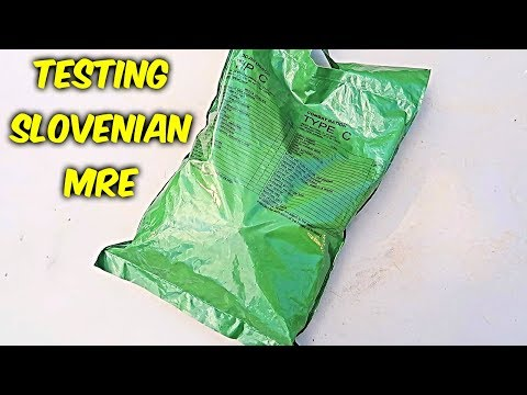 Testing Slovenian MRE (Meal Ready to Eat)