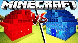 REDSTONE HOUSE VS LAPIS HOUSE - Minecraft