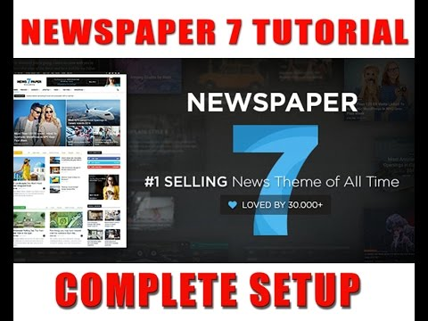 Newspaper v7.1Premium Wordpress Theme complete Setting and Overview 2016 YouTube