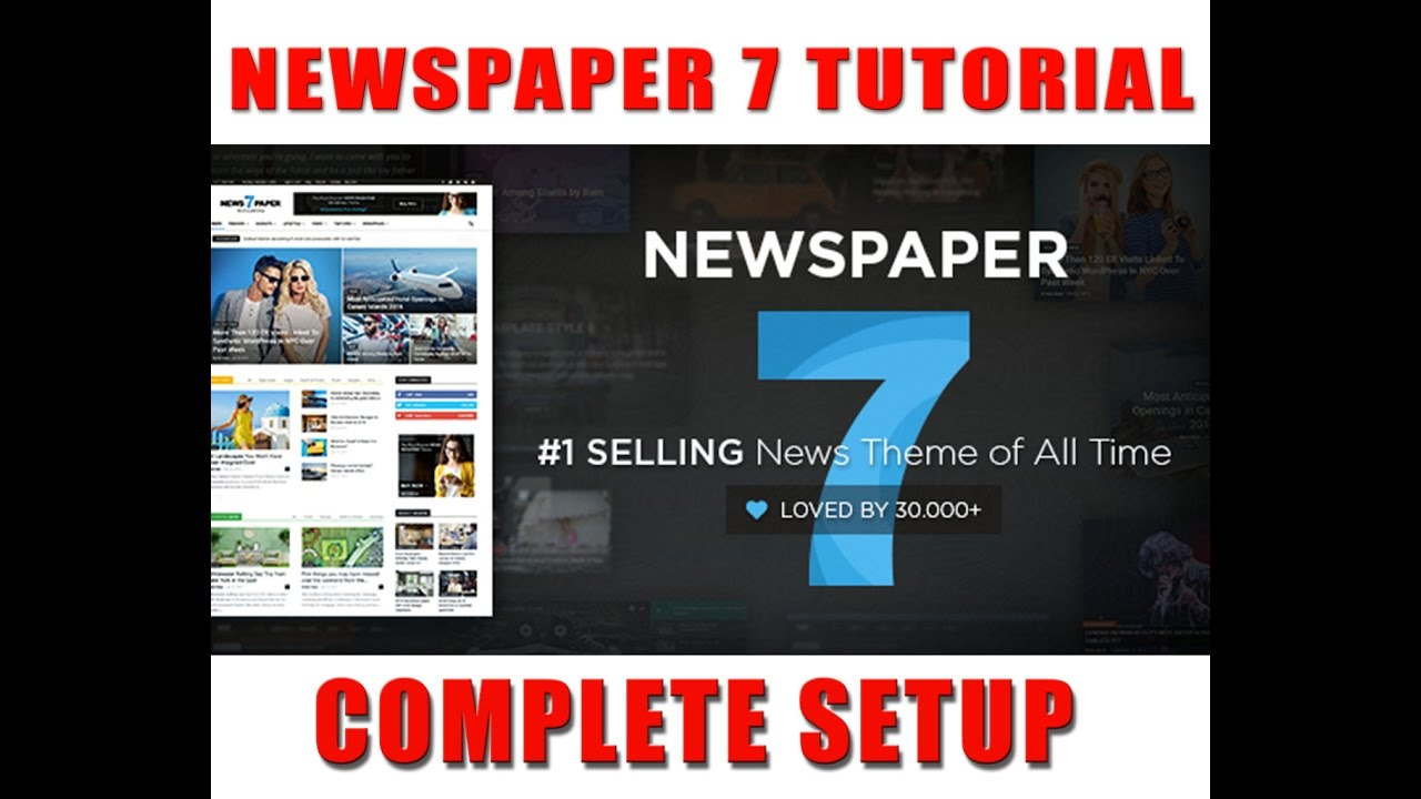 Newspaper v7.1Premium Wordpress Theme complete Setting and ...