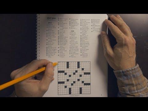 Crossword Puzzle Solving | ASMR