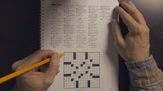 Crossword Puzzle Solving | ASMR